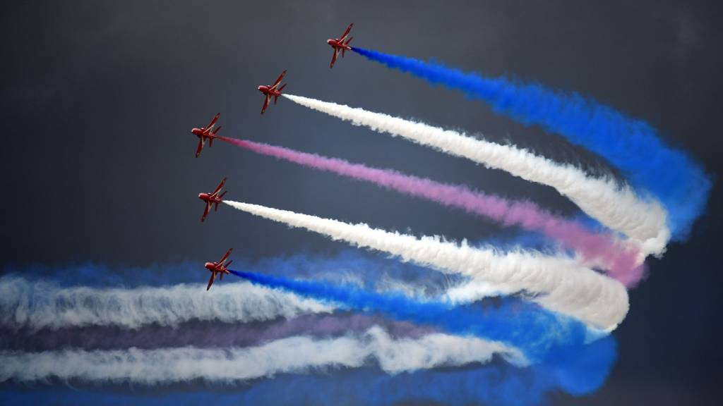 The Red Arrows at RAF Fairford