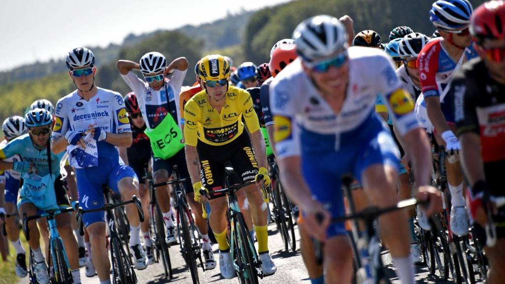 Slovenia's Primoz Roglic competes during stage 11 of the Tour de France
