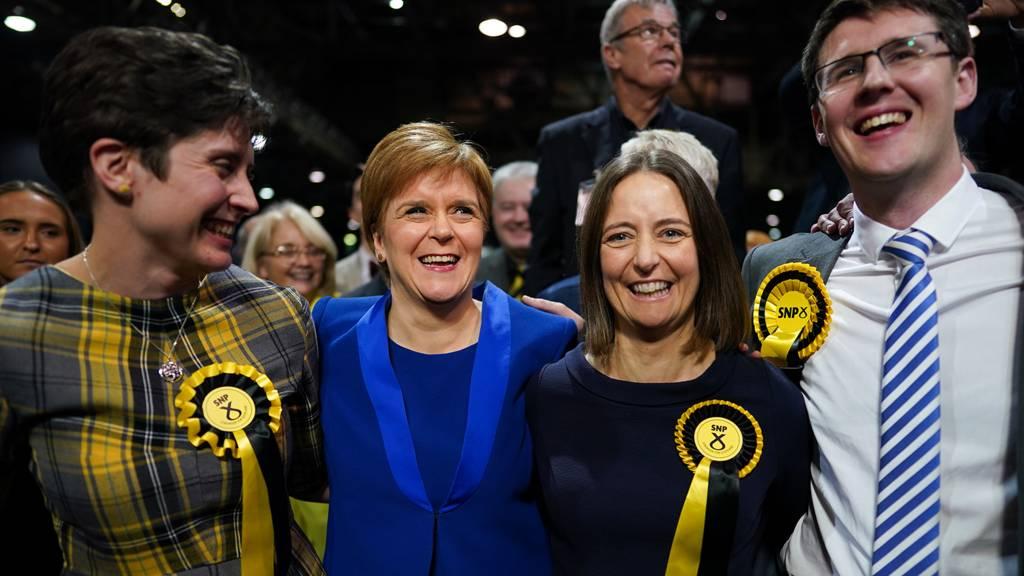 Nicola Sturgeon at Glasgow count