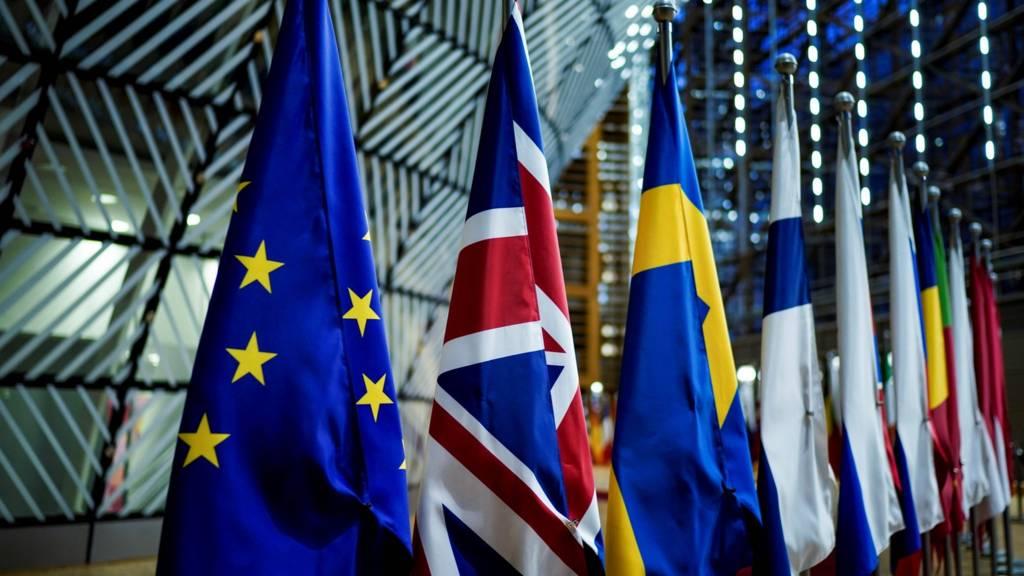 Flags at the European Parliament