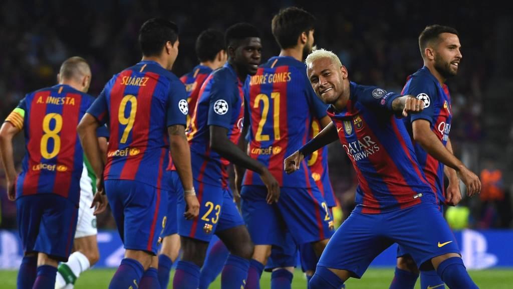 Neymar celebrates