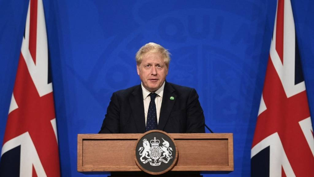 Prime Minister Boris Johnson at Downing Street on 7 September