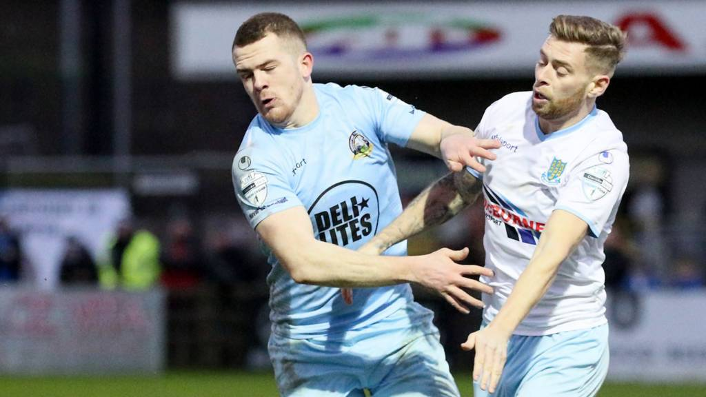 Ballymena United beat Warrenpoint Town 4-2 when they met in December