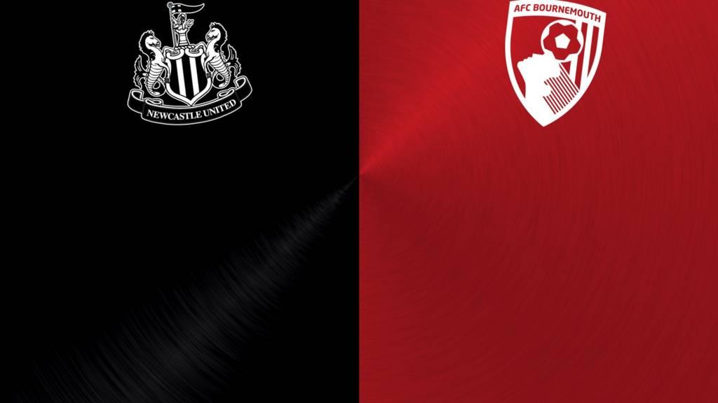 Newcastle v Bournemouth badges
