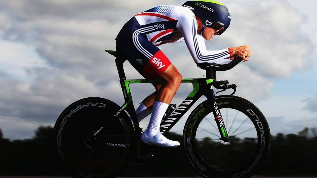 Alex Dowsett of Great Britain in action