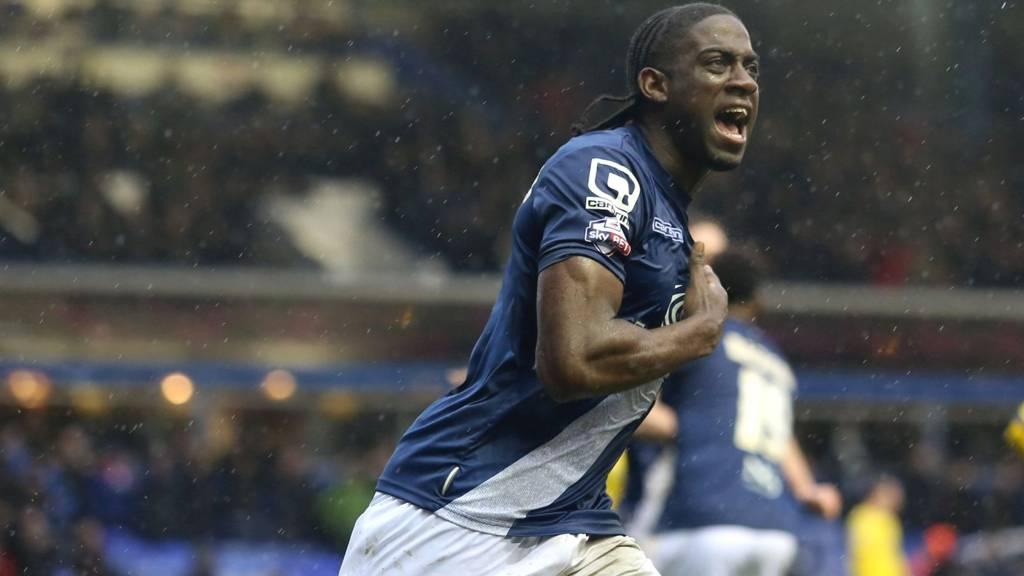 Birmingham striker Clayton Donaldson HERO