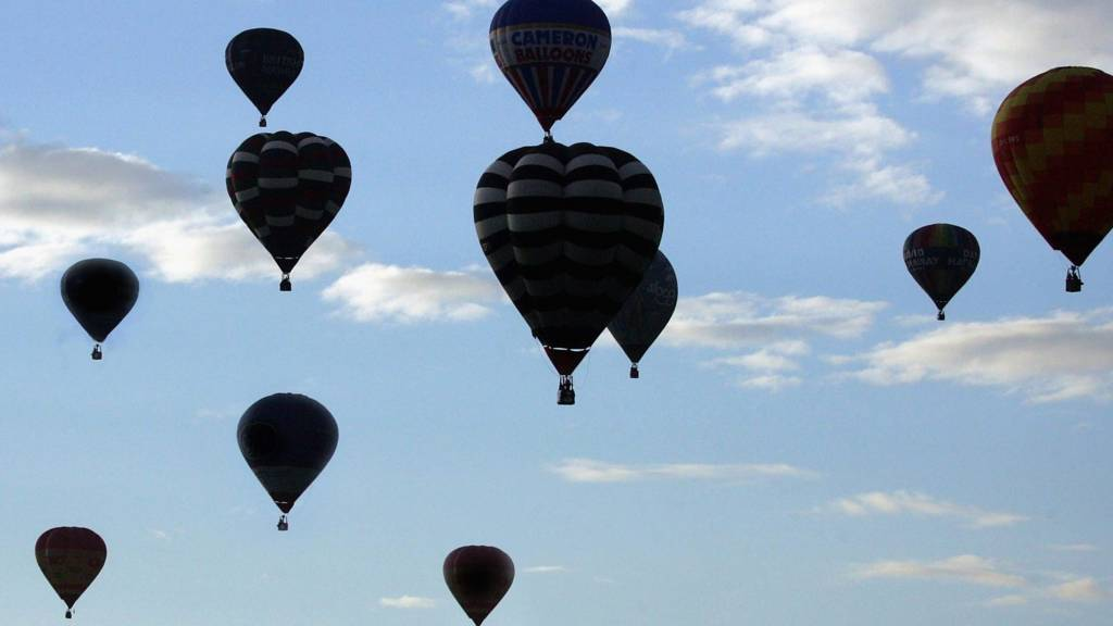 Balloons in air