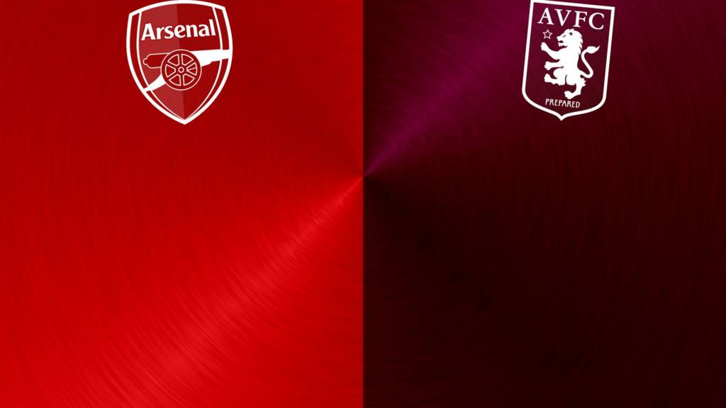 Arsenal v Aston Villa badges