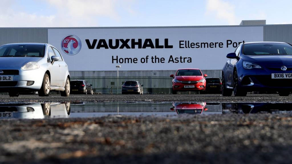 Cars at Vauxhall plant, Ellesmere Port