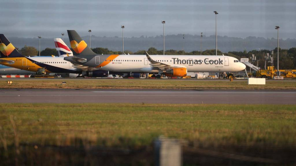 Grounded Thomas Cook plane