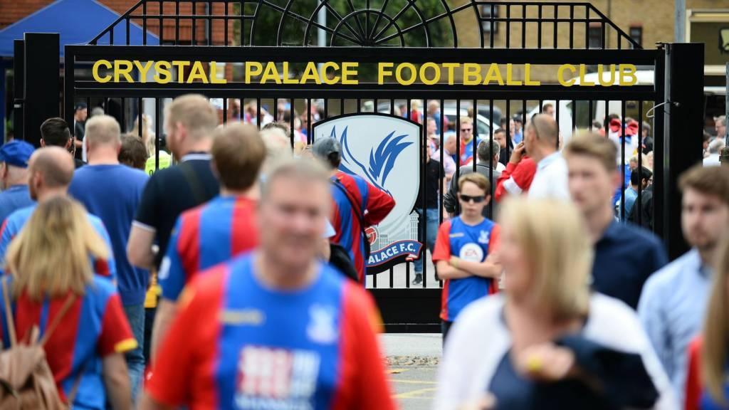 Fans arrive at Selhurst Park