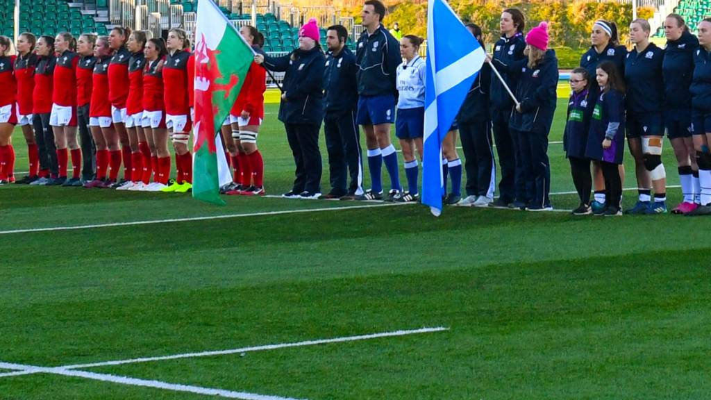 Scotland against Wales