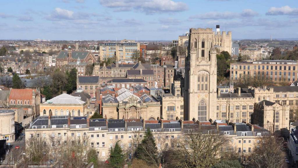 University of Bristol seen from Cabot Tower