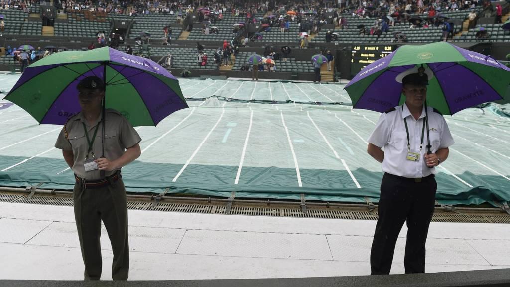 Rain delays play