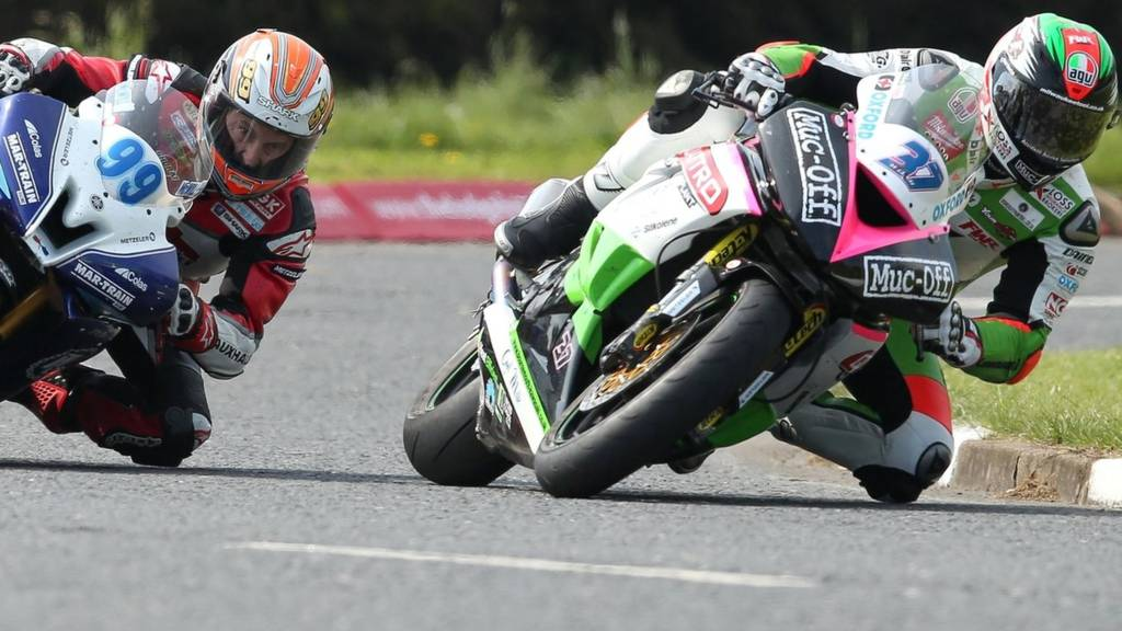 Action from the North West 200 practice session