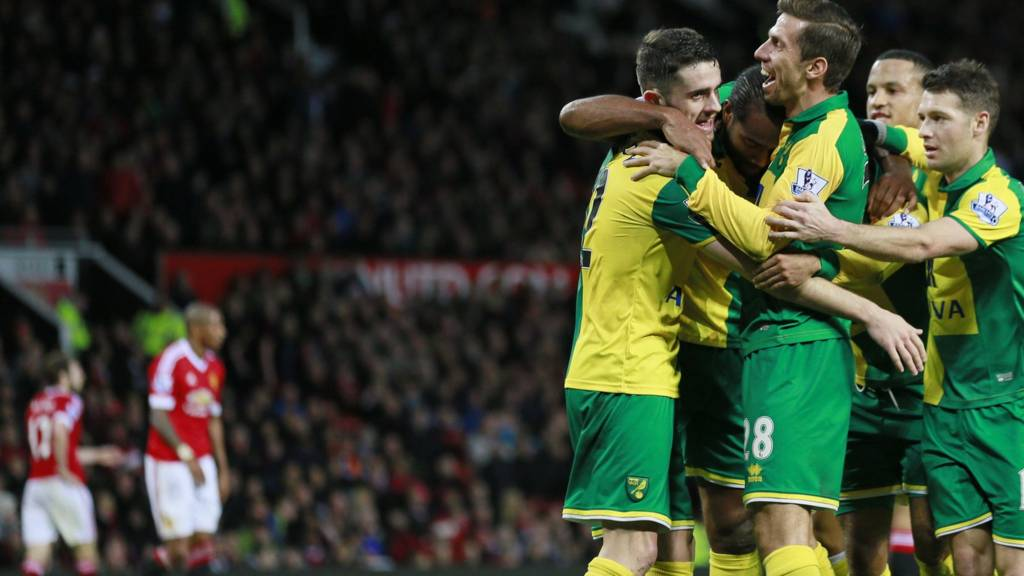 Norwich players celebrate