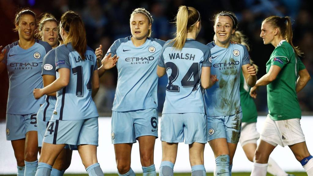 Man City Women celebrate