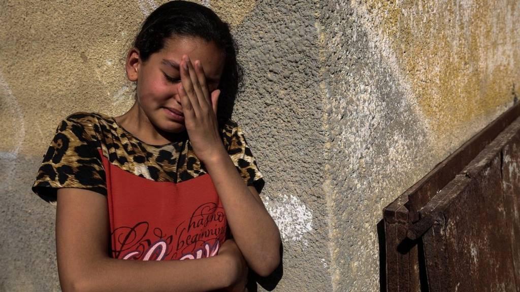 Filistinli yakınını kaybeden kız
