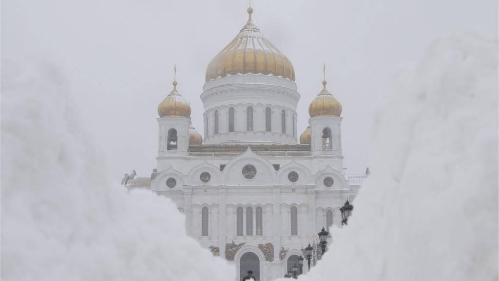 برف و یخ بندان در مسکو