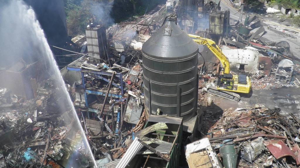 Bosley explosion site in 2015
