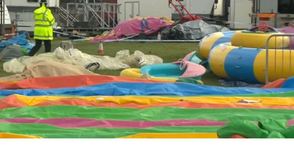 Bouncy castle crash