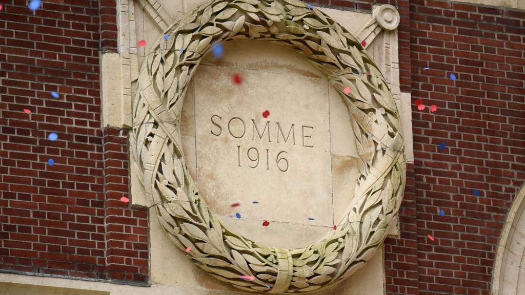 Somme memorial in Thiepval