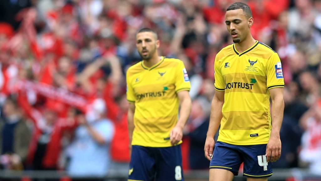 Oxford United lose at Wembley
