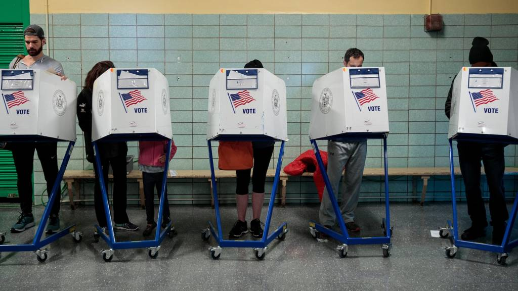 voters at ballot box in new york