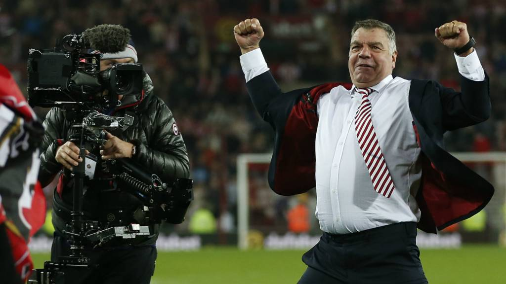 Sam Allardyce celebrates