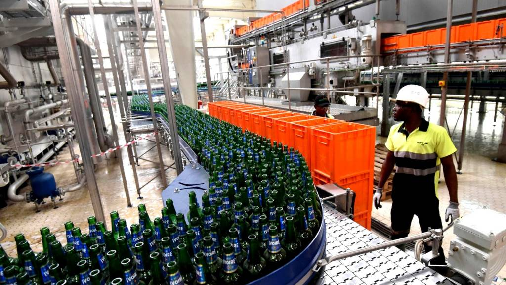 beer factory production line
