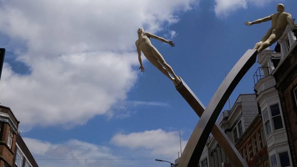 Crick statue