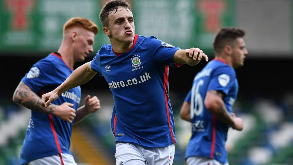 Joel Cooper was on target for Linfield against Dungannon