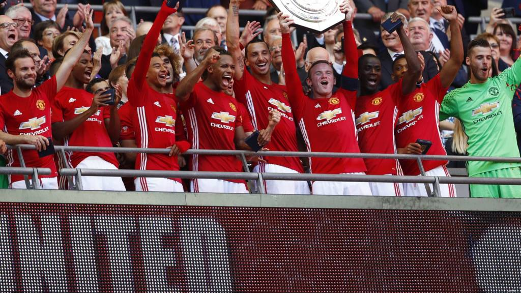 Man utd beat leicester to win community shield reaction live bbc sport - Bbc football league 1 table ...