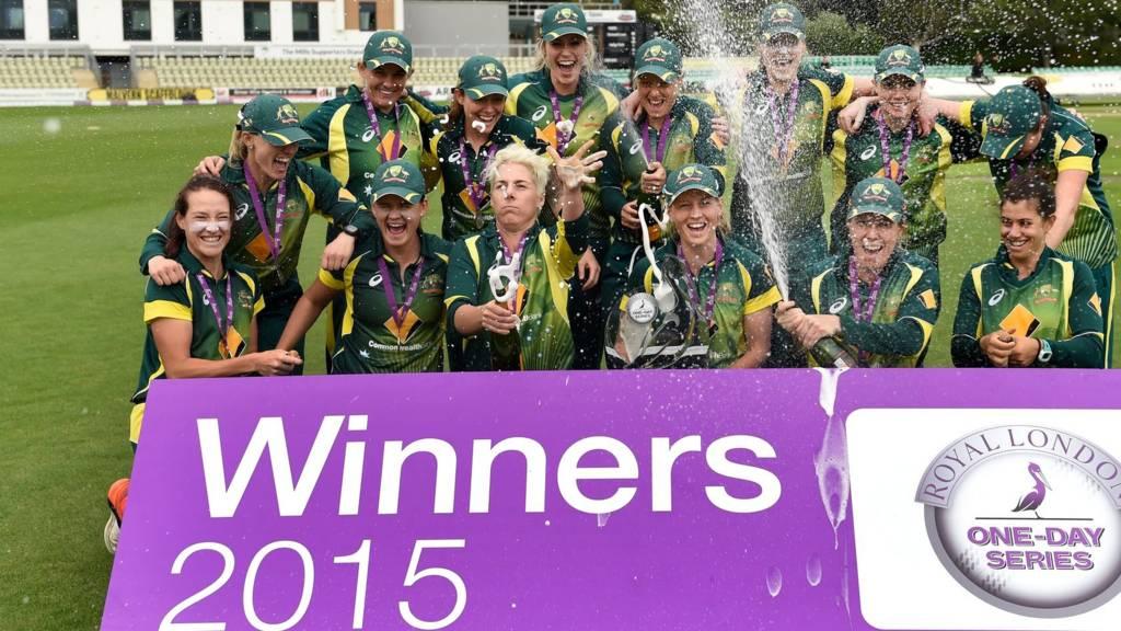Australia team celebrate