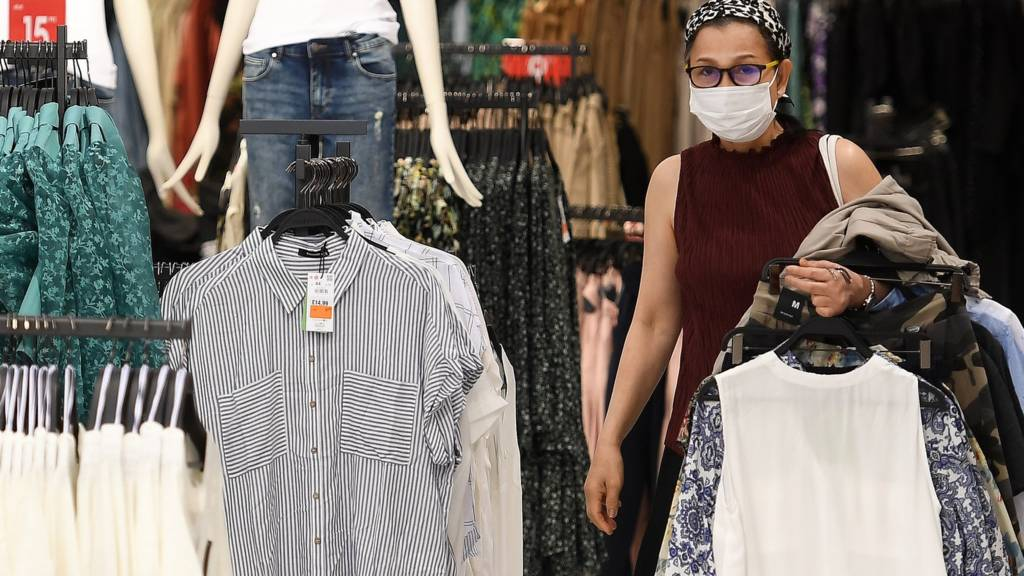 Face coverings being worn in shops