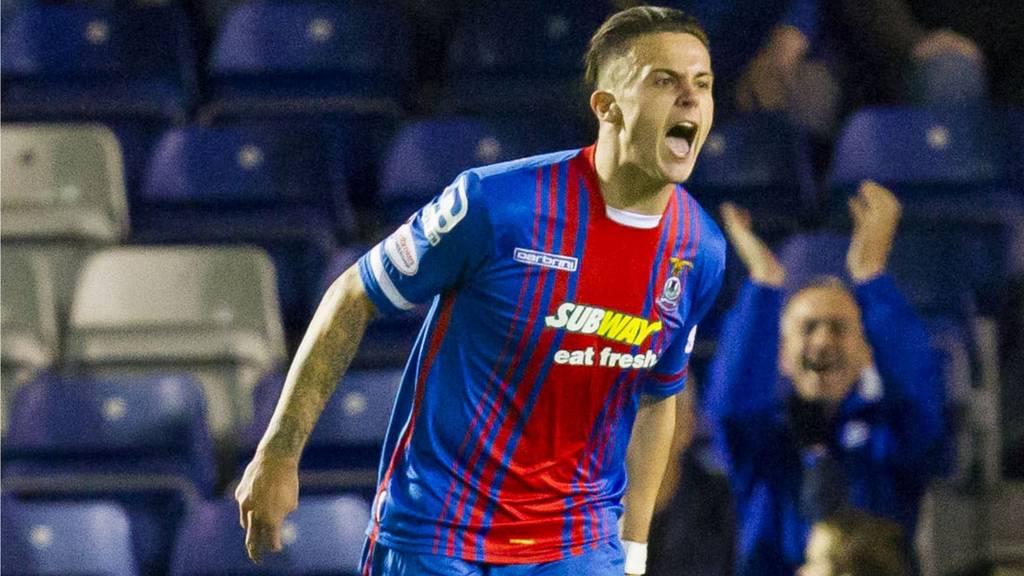 Miles Storey celebrates his goal