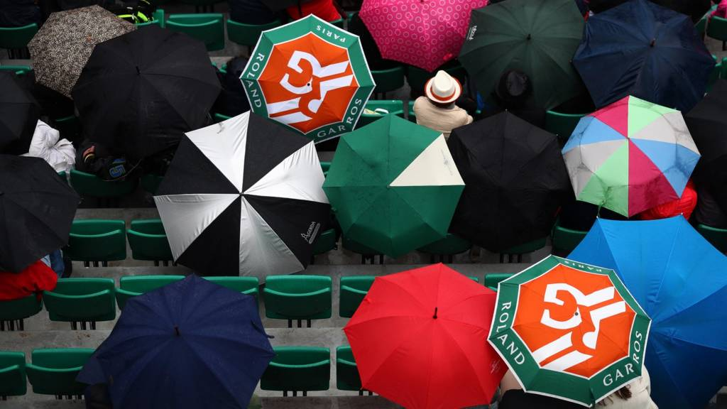Umbrellas at the French Open