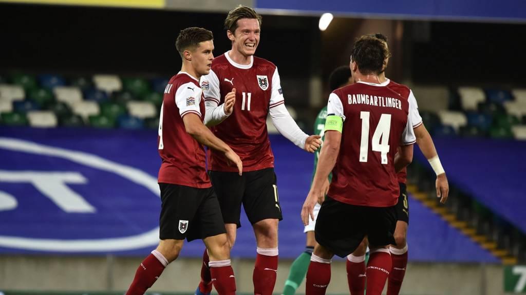 Austria score in first half