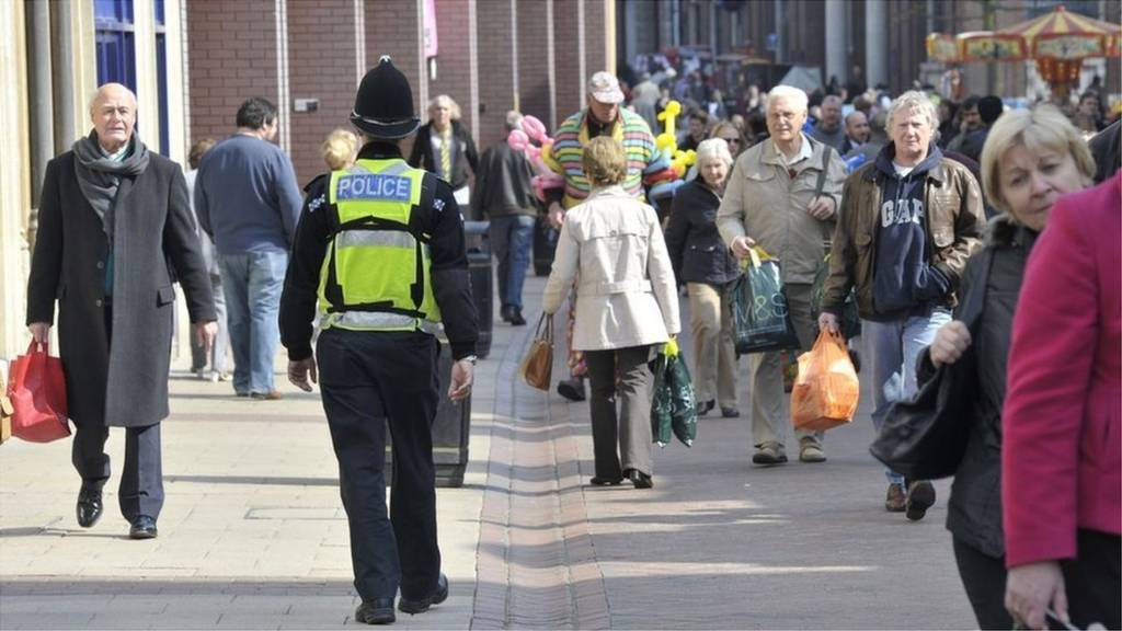 Policeman on the Cornhill in Ipswich