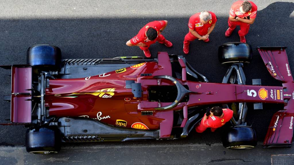 Ferrari's one-off, deep red livery