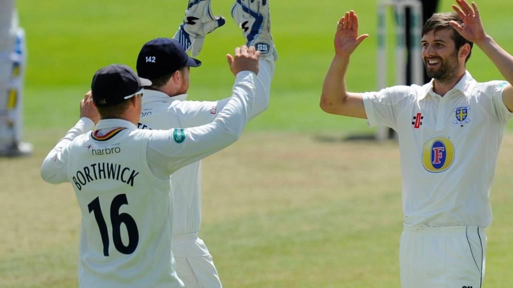 Durham wicket celebration