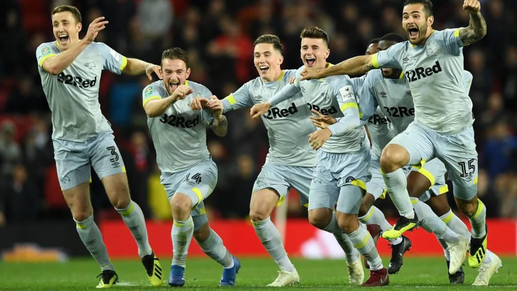 Derby beat Man Utd 8-7 on pens after Phil Jones miss f1abf6aa0d9c1
