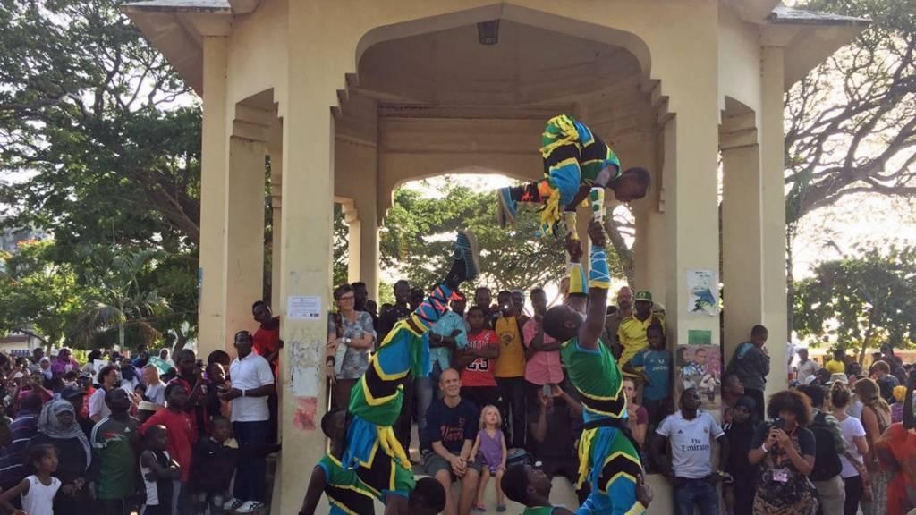 Acrobats in Zanzibar, Tanzania