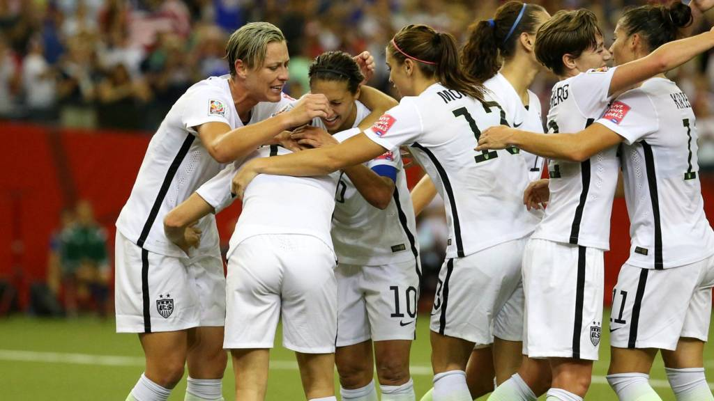 ef614b2cfd1 Fifa Women s World Cup  FT  USA 2-0 Germany - Live - BBC Sport