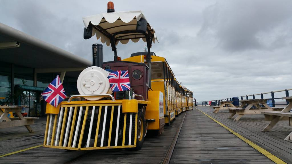 Southport pier train