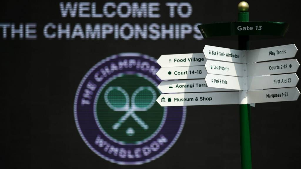 Wimbledon entrance and signs