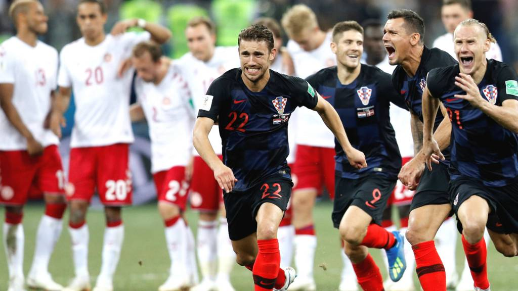 Image result for denmark loses to croatia in world cup round of 16
