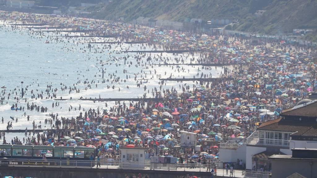 Bournemouth Beach on 24 June