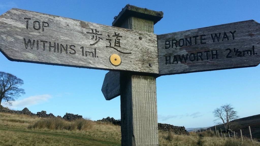 Top Withins sign near Haworth