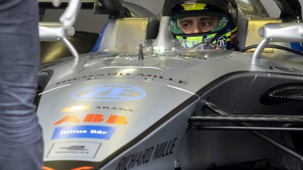 Felipe Massa in the garage
